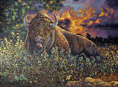 Painting - Wilson Bison-commission by Craig T Burgwardt