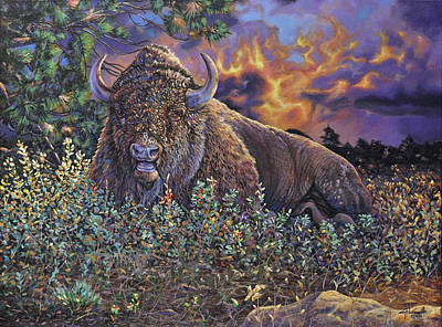 Painting - Wilson Bison-commissioned by Craig T Burgwardt