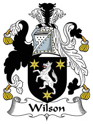 Wilson Coat Of Arms I Donegal  Art Print by Heraldry