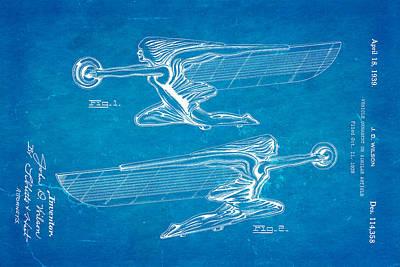 Wilson Hood Ornament Patent Art 1939 Blueprint Art Print by Ian Monk