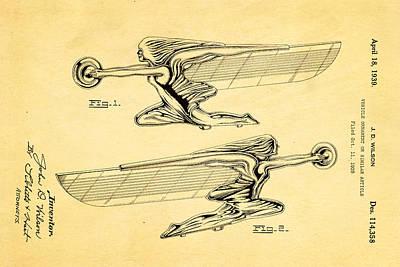 Wilson Hood Ornament Patent Art 1939 Art Print by Ian Monk