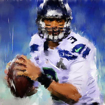 Seahawks Painting - Wilson Winner by Lourry Legarde
