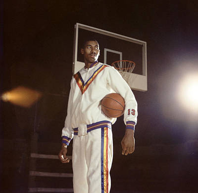 Wilt Chamberlain In Warmups Print by Retro Images Archive