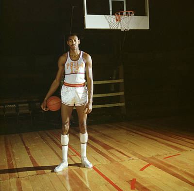 Nba Photograph - Wilt Chamberlain Stands Tall by Retro Images Archive