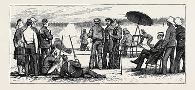 Wimbledon Drawing - Wimbledon Camp, Shooting For The Army And Navy Challenge Cup by English School