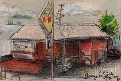 Wimpis Burgers Art Print
