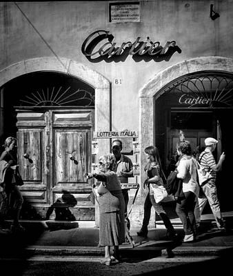 Win Lotto Buy Cartier Art Print by Karen Lindale