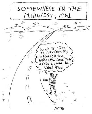 Midwest Drawing - Win The Nobel Prize by David Sipress