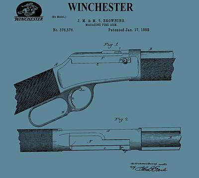 Gunfight Digital Art - Winchester Arms Company by Dan Sproul