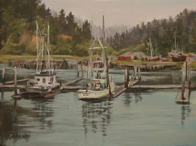 Painting - Winchester Bay by Karen Ilari