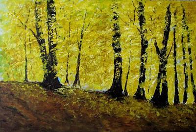 Wind Among Trees Art Print by Vicki Conlon