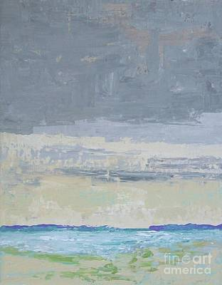 Titanium White Painting - Wind And Rain On The Bay by Gail Kent