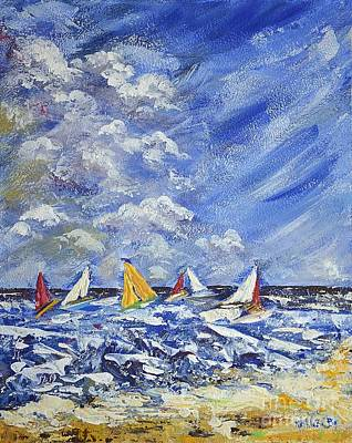 Painting - Wind And Sails by Kathleen Pio