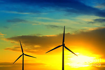 Windmill Photograph - Wind And Sun Energy by Jan Brons