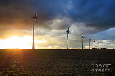 Turbines Photograph - Wind And Sun by Olivier Le Queinec