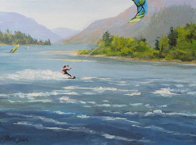 Wind Surfing Painting - Wind And Water by Karen Ilari