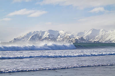 Wind And Waves On Kodiak Art Print