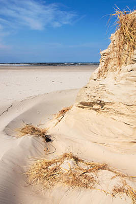 Dune Photograph - Wind-blown Sand Dune. by Jan Brons