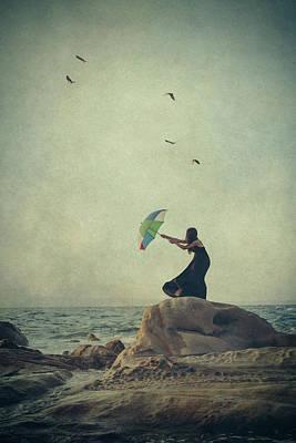 Beach Umbrella Wall Art - Photograph - Wind Catcher by Svetlana Bekyarova