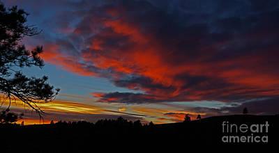 Black Hills Sunset Art Print by Bill Gabbert