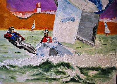 Wind Surfing Art Painting - Wind Chaser by Ruben Barbosa