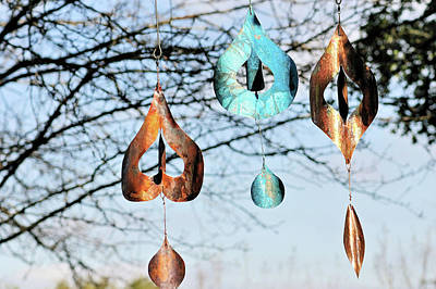 Kinetic Copper Wind Sculpture - Wind Dancers by Rick Hewitt