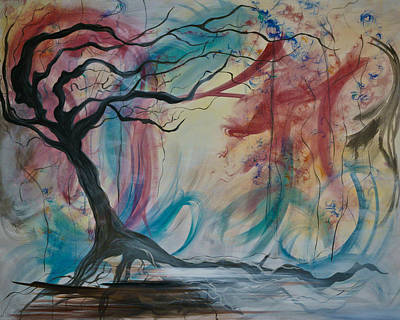 Tree Roots Painting - Wind by Emily Magone