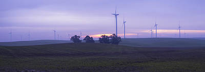 Photograph - Wind Farm At Dawn Panorama by Wes Jimerson