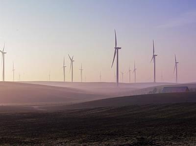 Jimerson Photograph - Wind Farm At Dawn by Wes Jimerson