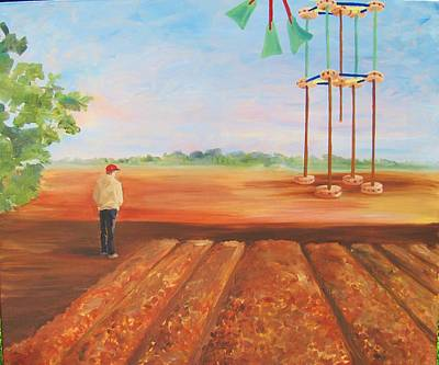 Tinker Toy Painting - Wind Farm by Dori Marshall