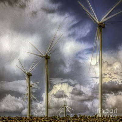 Sky Photograph - Wind Farm by Jean OKeeffe Macro Abundance Art