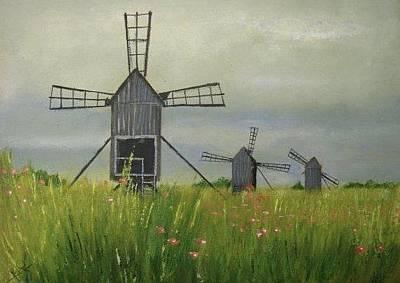 Painting - Wind Farm by Rami Besancon