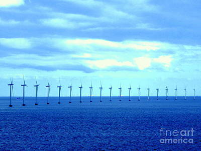 Photograph - Wind Generators At Sea by John Potts