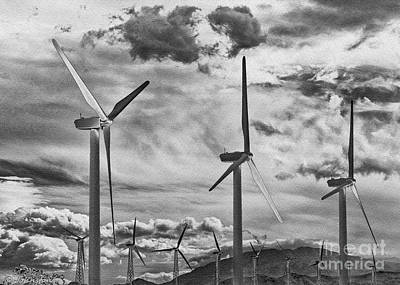 Photograph - Wind Generators Or Turbines Palm Springs by Bob and Nadine Johnston