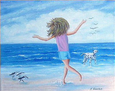 Painting - Wind In My Hair by Fran Brooks