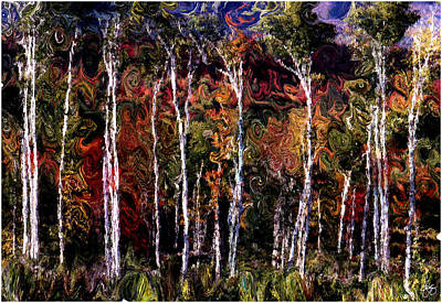 Photograph - Wind In The Birches by Wayne King