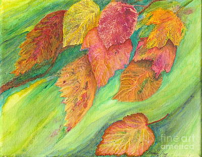 Wind In The Leaves Art Print