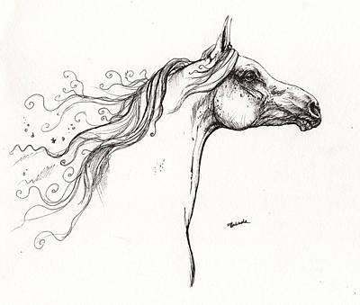 Wind In The Mane 1 Art Print by Angel  Tarantella