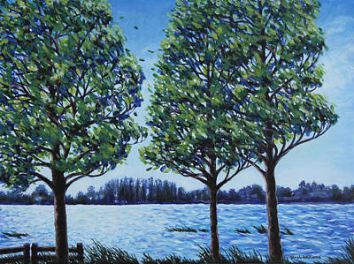 Painting - Wind In The Trees by Penny Birch-Williams