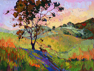 Wine Country Landscape Painting - Wind In The Wisp by Erin Hanson