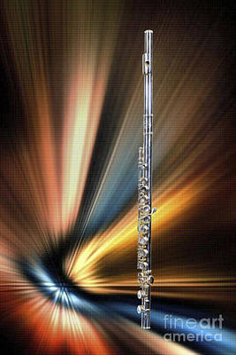 Photograph - Wind Instrument Music Flute Photograph In Color 3301.02 by M K Miller