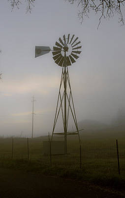 Photograph - Wind Mill At Dawn by Wes Jimerson