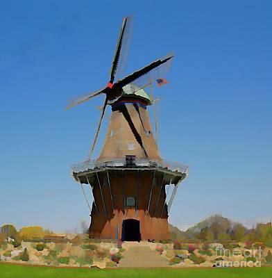 Wind Mill  Art Print by Robert Pearson