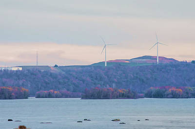 Photograph - Wind Mills Along The Susquehanna River by Beth Sawickie