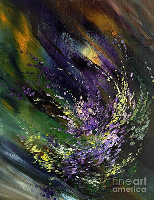 Abstract Painting - Wind by Natalia Eremeyeva Duarte