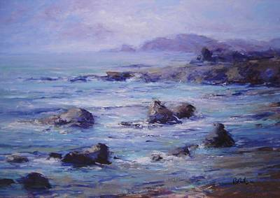 Wind On The Surf Art Print by R W Goetting