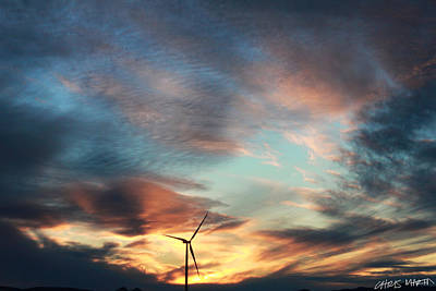 Chris Martin Photograph - Wind Park At Dusk by Chris Martin