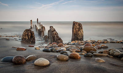 Photograph - Wind Point Pebbles by Dave Chandre