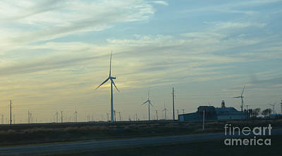 Photograph - Wind Power Generators by Donna Brown