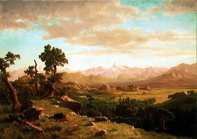 Wind River Country Art Print by Albert Bierstadt
